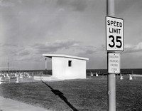"Speed Limit in Bradley Beach, NJ 14""x18"" Gelatin Silver Print 1995"